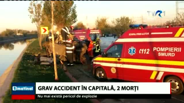 Grav accident in capitală, 2 morti