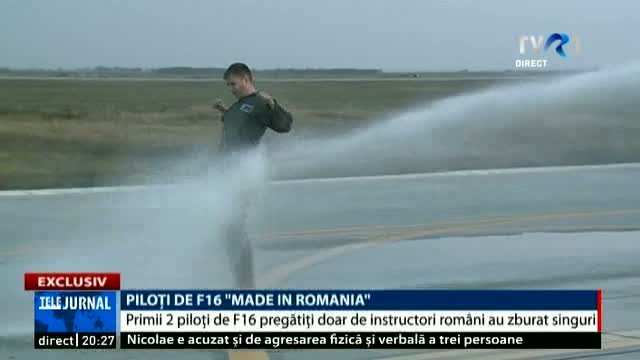"Piloți de F16 ""MADE IN ROMANIA"""