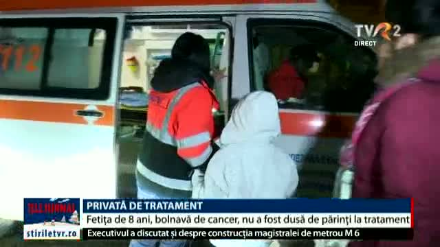 Fetiță bolnavă de cancer, privată de tratament