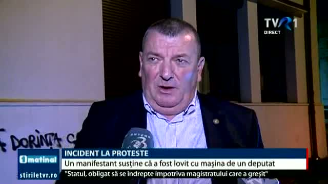 Incident la proteste