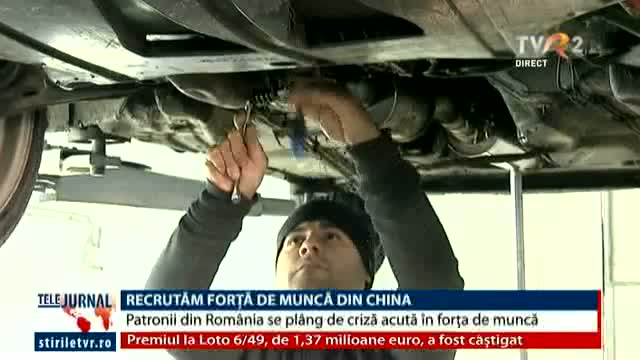 Recrutăm din China