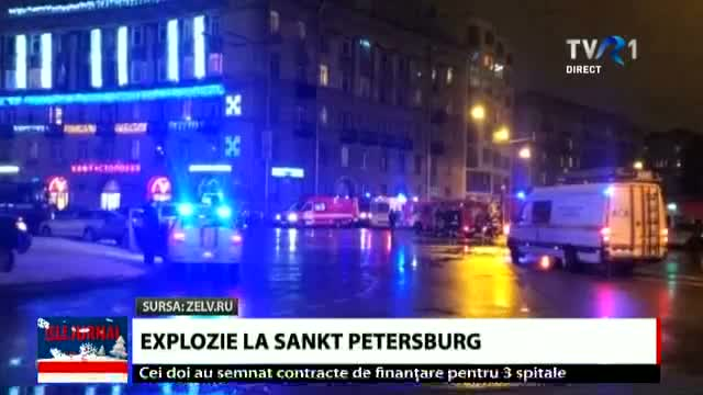 Explozie la Sankt Petersburg, Telejurnal ora 20.00