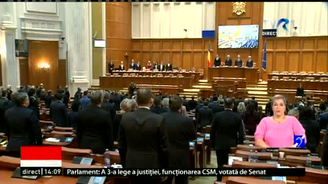 Moment solemn in Parlament