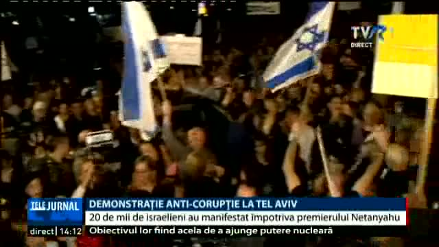 Demonstrație anticorupție la Tel Aviv
