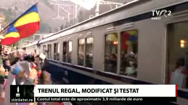 Trenul regal, modificat și testat
