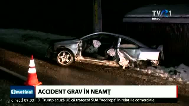 Accident grav în Nemț