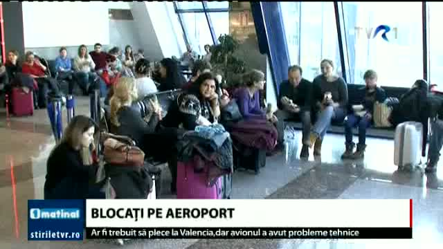 Blocați pe aeroport