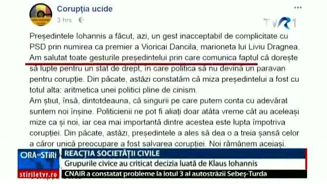 Reacția societății civile
