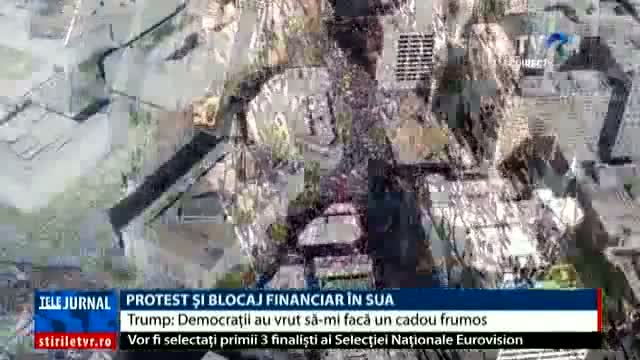 Protest și blocaj financiar în SUA