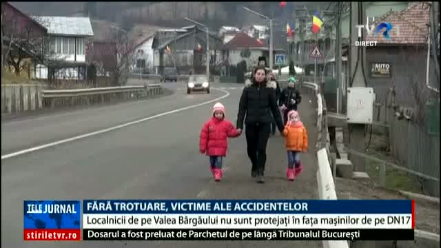 Fără trotuare, victime ale accidentelor
