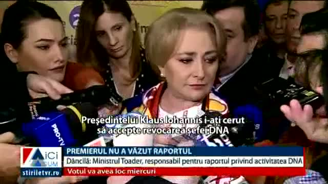 Premierul Dăncilă, despre raportul pe justiție