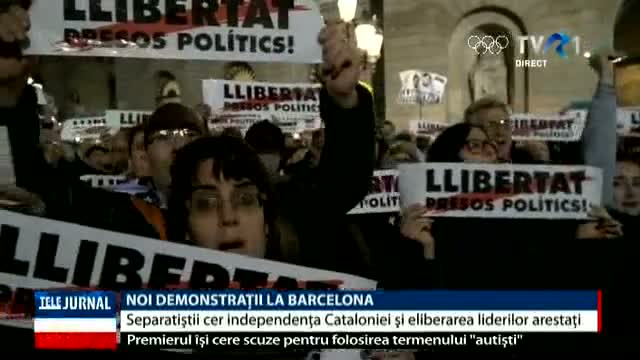 Noi demonstrații la Barcelona