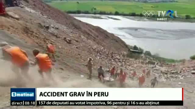 Grav accident în Peru