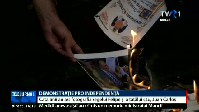 Demonstrație pro independență în Catalonia