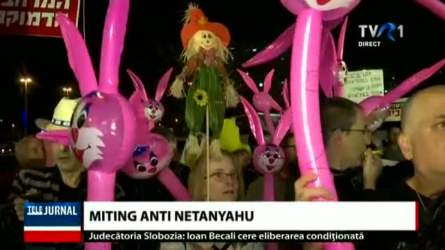 Miting anti Netanyahu
