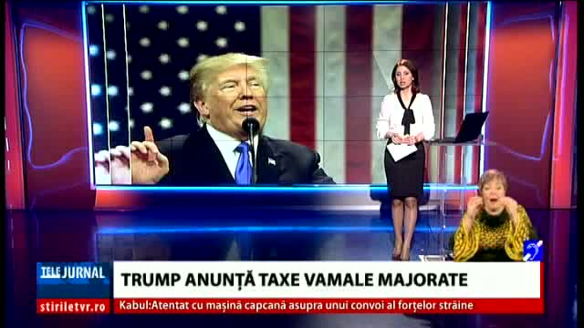 Trump anunță taxe vamale majorate
