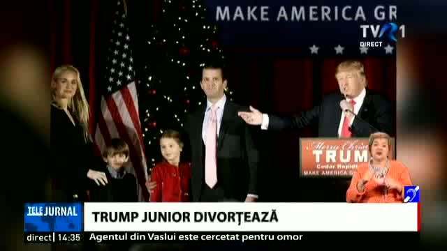 Trump junior divorțează