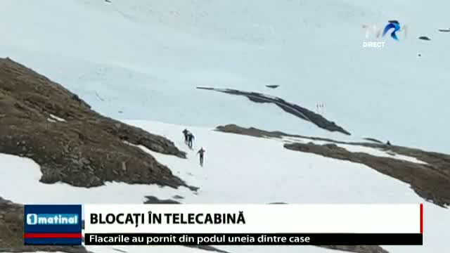 Blocați in telecabină
