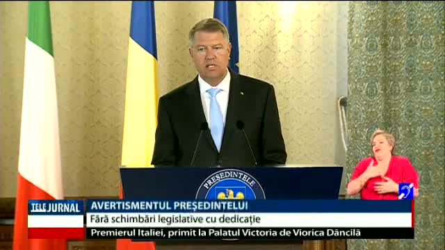 Klaus Iohannis, despre modificarea Codurilor