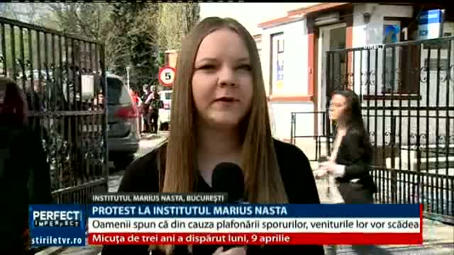 Protest la Institutul Marius Nasta