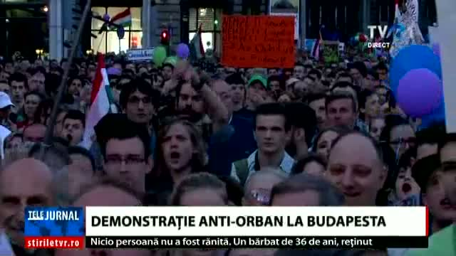 Demonstrație anti Orban la Budapesta
