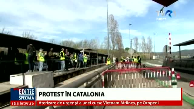 Protest inedit în Catalonia