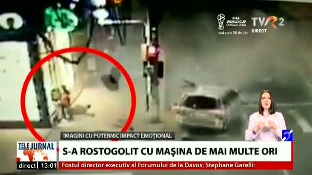 S-a rostogolit cu mașina de mai multe ori