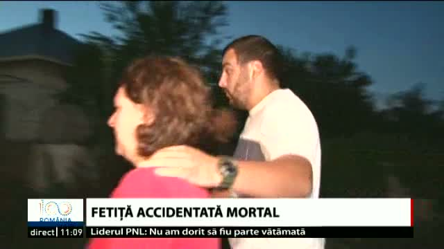 Fetiță accidentată mortal