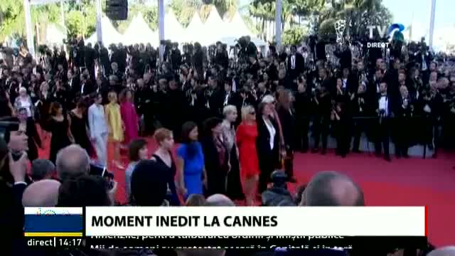 Moment inedit la Cannes
