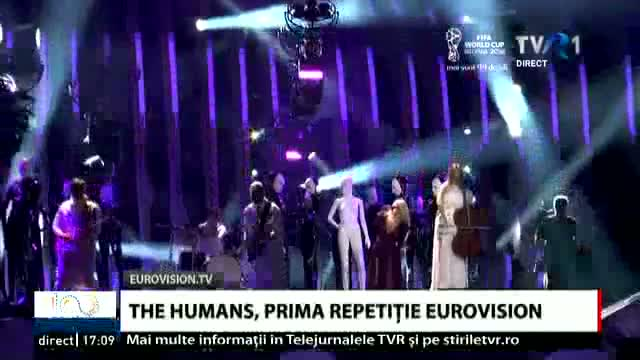 The Humans, prima repetiție Eurovision