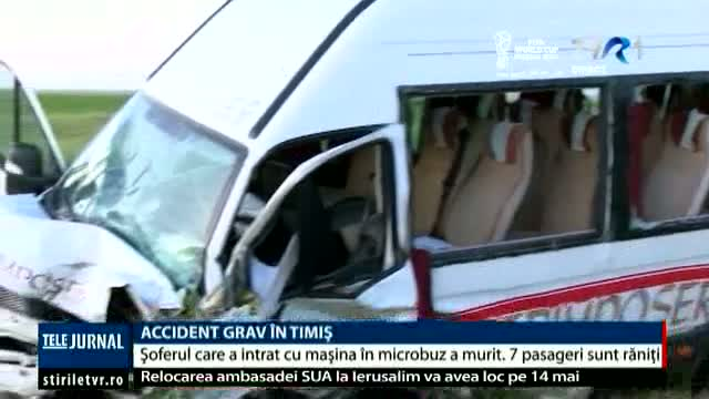 Accident grav în Timiș