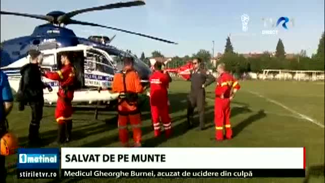 Turist accidentat salvat de pe munte
