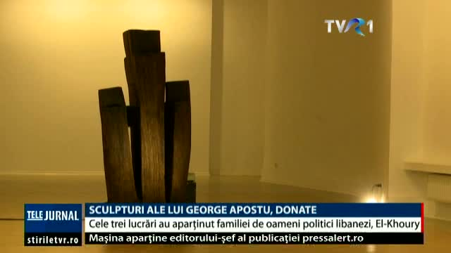 Sculpturi ale lui George Apostu, donate