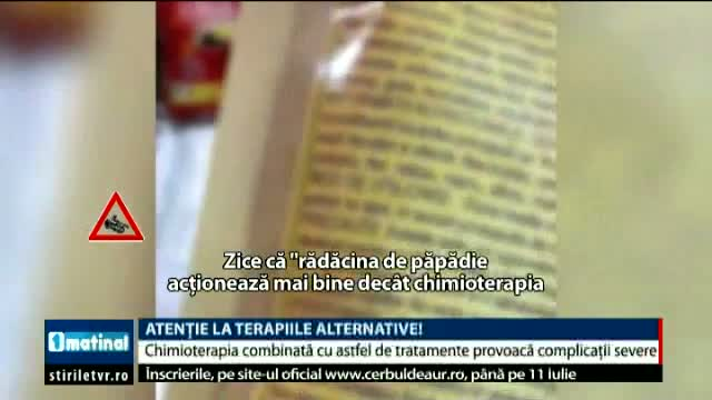 Atenție la terapiile alternative