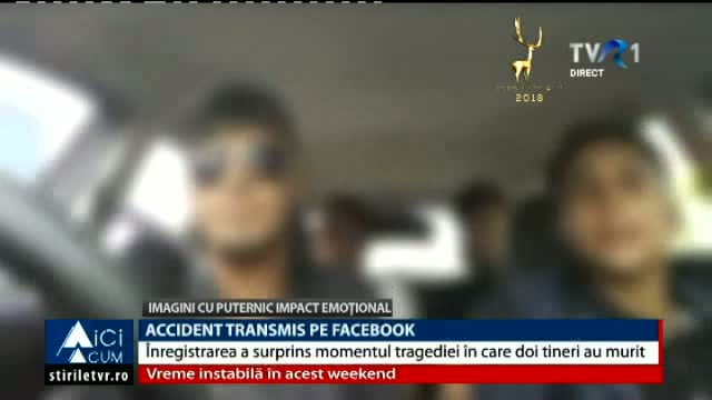 Accident transmis live pe Facebook