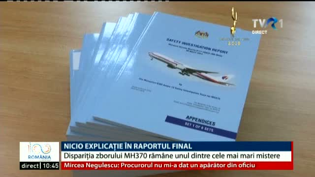 Avion dispărut, raport final