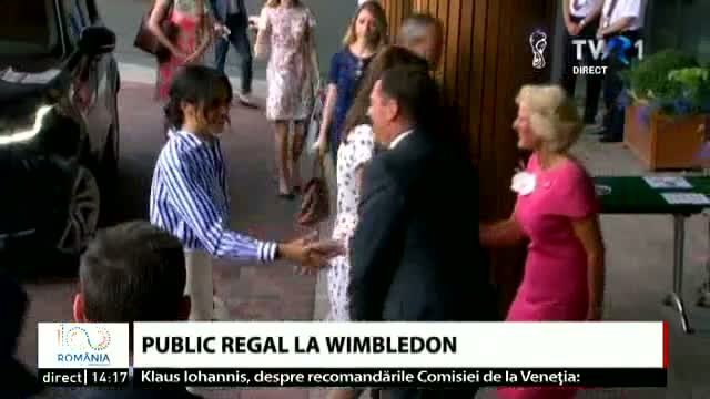 Public regal la Wimbledon