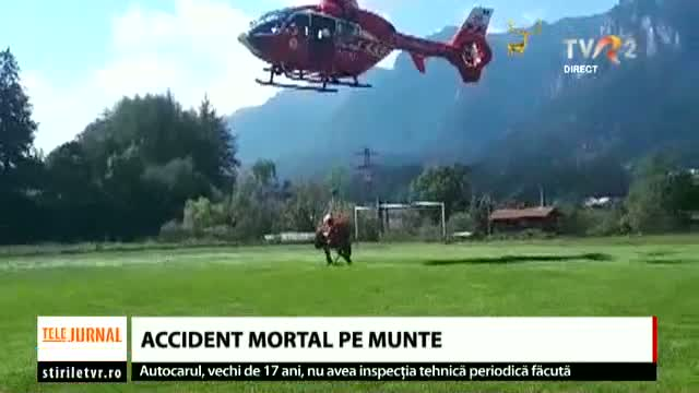 Accident mortal pe munte