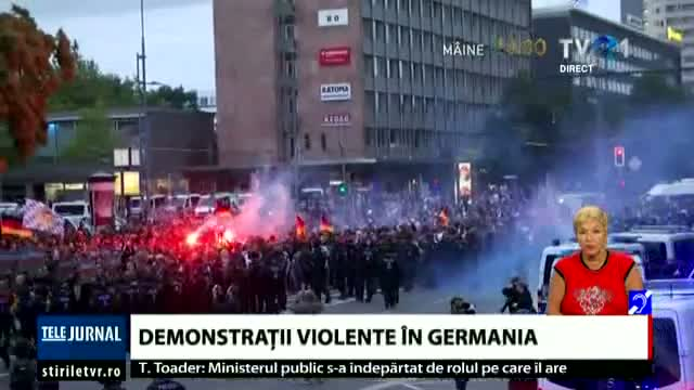 Demonstrații violente în Germania