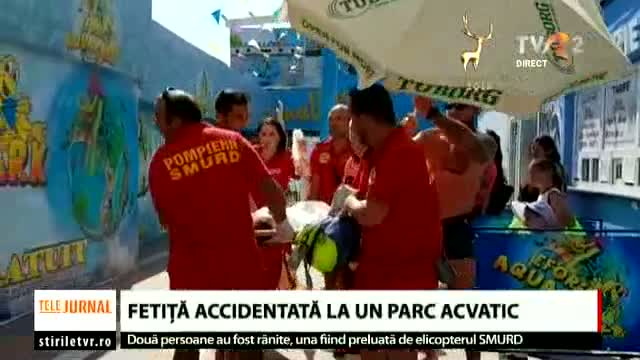 Fetiță accidentată într-un parc acvatic
