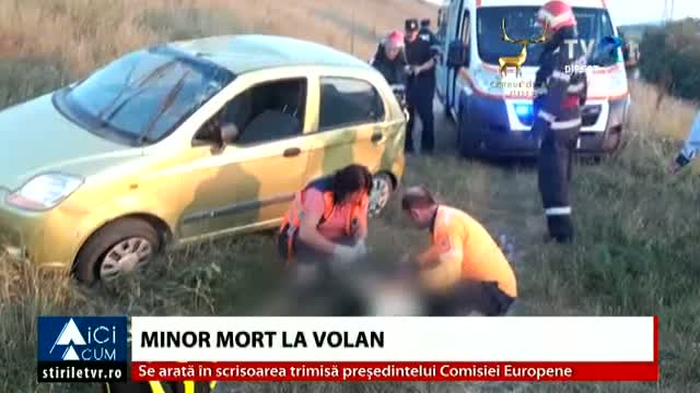 Minor mort la volan