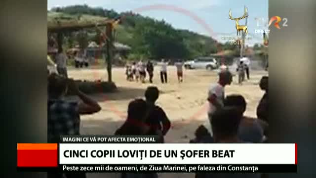 5 copii loviți de un șofer beat