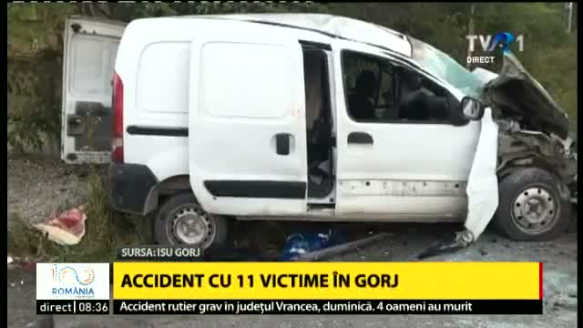 Accident cu 11 victime in Gorj