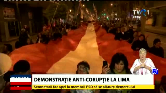Demonstrație anticorupție la Lima