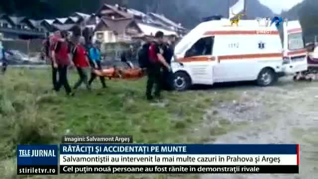 Rătăciți și accidentați pe munte