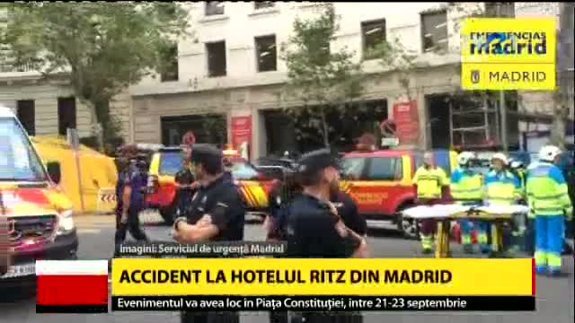 Accident la hotelul Ritz din Madrid