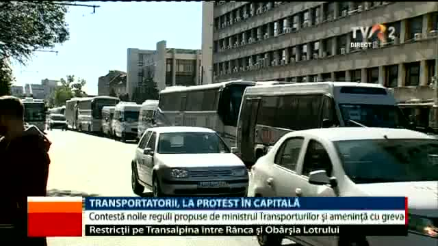 Transportatorii, la protest
