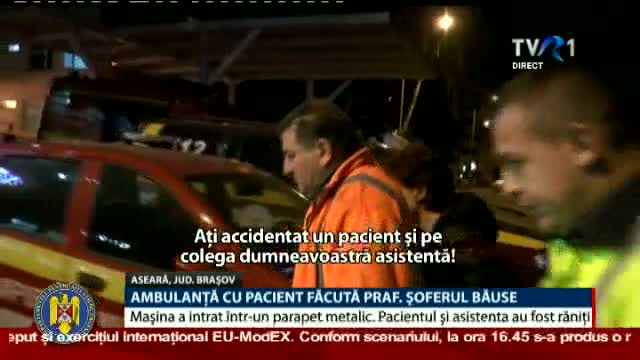 Șofer de ambulanță beat