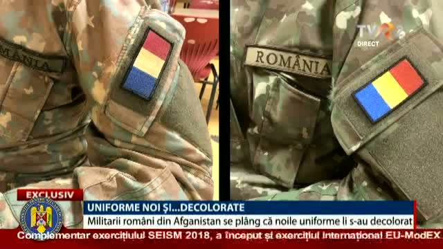 Uniforme noi și... decolorate