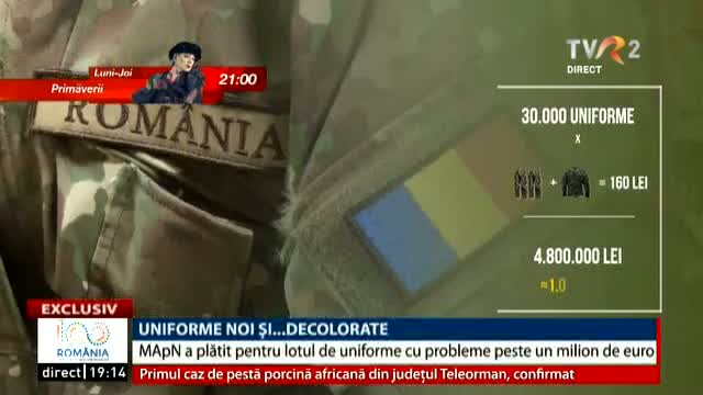 Uniforme noi și decolorate